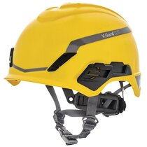 MSA 10194795 V-Gard H1 Unvented FT3PIV Yellow Helmet
