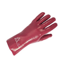 Keepsafe 11'' Red PVC Gauntlets