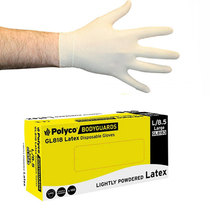 Polyco GL818 Natural Powdered Disp Latex Glove [100]