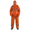 Ansell AlphaTec 1500 Model 113 Hooded Hi-vis Coverall. Size 5XL