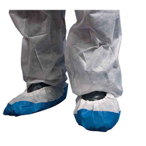 Shield Deluxe Non-Woven White/Blue 16'' Overshoes [800]