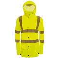 Hi-Vis Yellow Waterproof Un-Lined Jacket