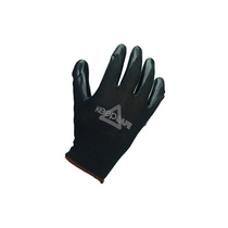 KeepSAFE Black Nitrile Coated Nylon Gloves