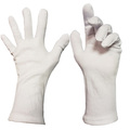 White Polyester Open Cuff Gloves