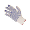 Blue Dotted White Nylon Gloves