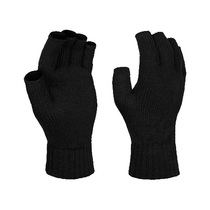 Regatta Black Knitted Fingerless Gloves