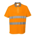 Portwest S171 Hi-Vis Orange Cotton Comfort Polo Shirt