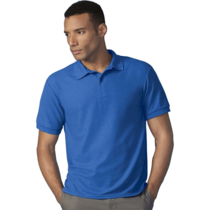 Gildan 75800 Dryblend Double Pique Polo Shirt Royal Blue 3XL-5XL