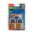 Squire LP9T Twin Pack Brass Padlock Keyed Alike