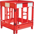JSP Workgate 4 Gate Red with Reflectives