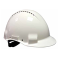 3M Reduced Peak Vented Safety Helmet White G3000CUV-VI