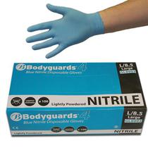 Nitrile Blue Powdered Disposable Gloves [100]