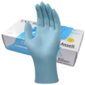 Ansell 92-670 Touch N Tuff Blue Powder Free Nitrile Disposable Gloves [10x100]