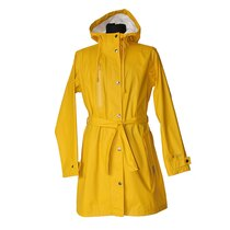 Pure Ocean Ladies Rain Jacket From Recycled Plastic Yellow