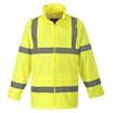 Portwest H440 Yellow Hi-Viz Mesh Lined Rain Jacket