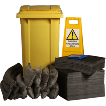 Ecospill 240L Maintenance Spill Kit 2 Wheel PE Bin M1220240