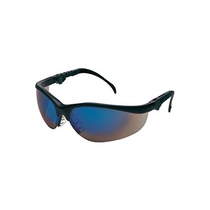 Klondike Black Frame Blue Mirror Lens Safety Glasses