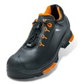 uvex 2 Black/Orange Leather Safety Trainers S3 SRC ESD