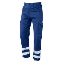 Orn 2510-15 Condor Royal Blue Trousers With Hi-Vis Bands Short Leg