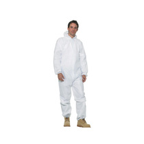 White Hooded Disposable Coverall