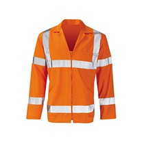Orbit Polycotton Zip Front Jacket Hi-Vis Orange PCRTJ