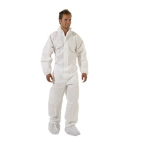 KeepSAFE 383002 Type 5/6 White Laminated Disposable Coverall