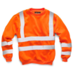 Hi-Vis Orange Round Neck Polyester Sweatshirt