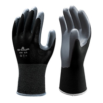 Showa 370 Nitrile Black Nylon Linen Glove