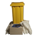 Ecospill 120L Oil Only Spill Kit 2 Wheel PE Bin H1820120