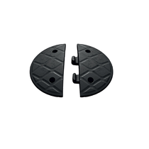 JSP Jumbo 7.5cm End Caps Black [2 Caps]