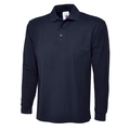 Uneek UC113 Long Sleeve Polycotton Poloshirt Navy