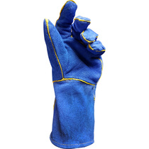Keepsafe Blue Leather Welders Gauntlets