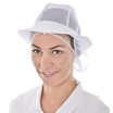 LHC 18001 White Trilby Hat with Snood