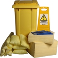 Ecospill 240L Chemical Spill Kit 2 Wheel PE Bin C1220240