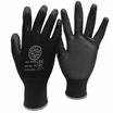 BPUNL Black PU Palm Coated Nylon Glove