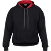 Gildan 185C00 Contrast Hooded Sweatshirt - Black