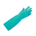 KeepSAFE 16'' Green Nitrile Lined Gauntlets