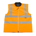 Mainman Hi-Vis Orange Reversible Bodywarmer