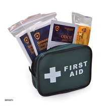 1 Person Travel First Aid Kit Green Bag 30FHSET1