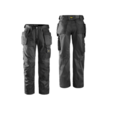 Snickers 3212 Duratwil Holster Trousers Black Reg Leg
