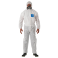 Ansell Microgard 1500 Plus White Coverall with Hood WH15S-00111