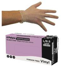 Polyco GL62 Clear Powder Free Vinyl Disposable Gloves [100]