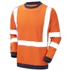 ProGram 5648 Arc Sweatshirt Hi-Vis Orange