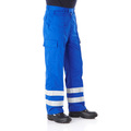 Benchmark Royal Blue Reflective Cargo Trousers Short Leg