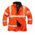 Hi-Vis Orange Quilt Lined Coat
