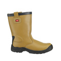 Tuf Fur Lined Tan Smooth Leather Rigger Boots S3 SRC