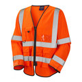 Orange Long Sleeve Waistcoat with Velcro Adjuster