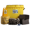 Ecospill 600L Maintenance Spill Kit 4 Wheel PE Bin M1230600