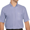 Disley Blue Short Sleeved Oxford Shirt H946B