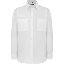Disley White Pilot Mens Shirt Long Sleeve